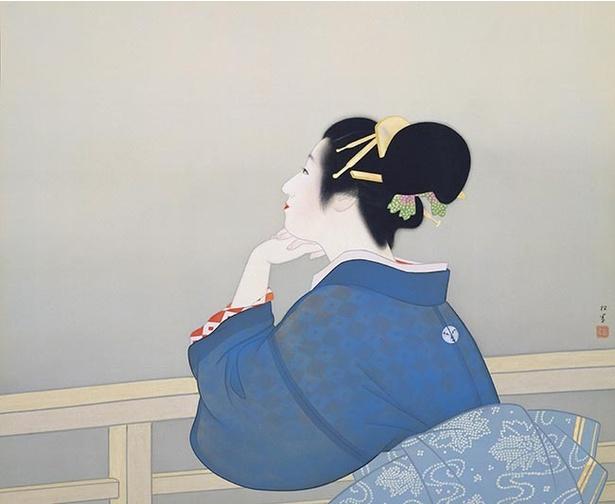 【写真を見る】上村松園「待月」(昭和19年)