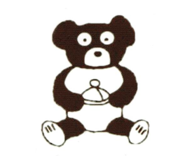 マスコットのクマは、先代の娘・邦子さんが小学生のころに描いた。手にはマロンが!