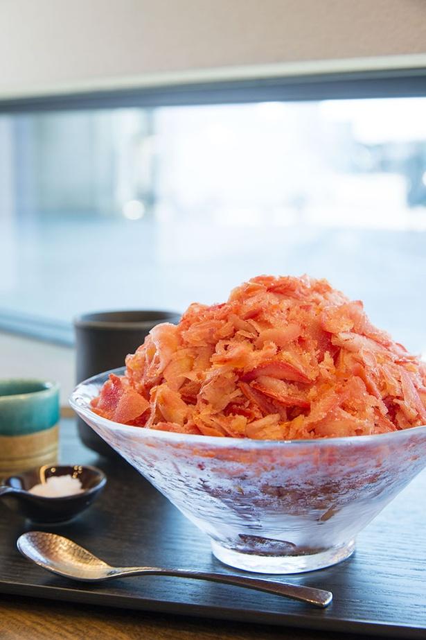 新感覚のかき氷「トマトL」(900円)