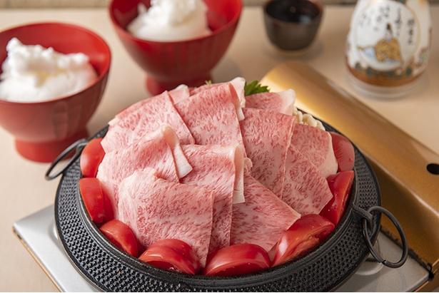 「厳選和牛(A5)サーロイン トマトすき焼き(1人前) 」(2,684円)※写真は2人前