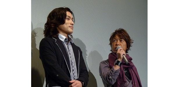 森田成一の奮闘を絶賛した古谷徹(写真左から)