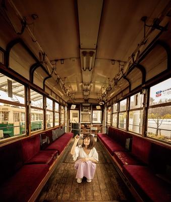 車内は当時のままで、昭和の香りを感じることができる/梅小路公園