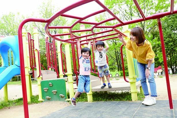 北西口の南側にある「子どもの森」/花博記念公園 鶴見緑地