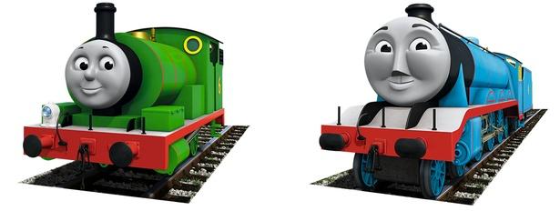 好きなキャラクターの2位はパーシー(左)、3位はゴードン(右)