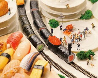 愛知県内の水産業と寿司を絡めたコーナーにはニホンウナギも登場 / 特別展「寿司ネタ大集合 ~水族館が斬る!寿司のいろいろ~」