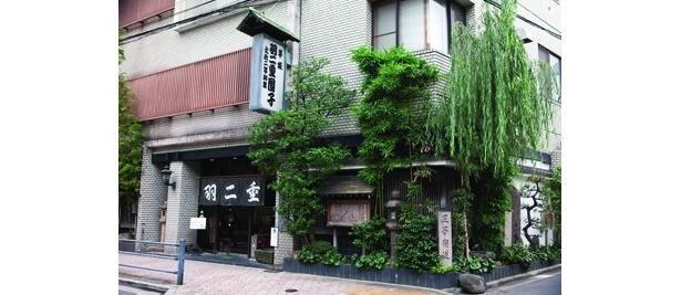 「坊っちゃん」に「芋坂の団子屋」として登場する日暮里の「羽二重団子 本店」