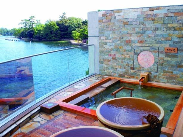 天橋立を一望できる空中座敷露天風呂/天橋立ホテル