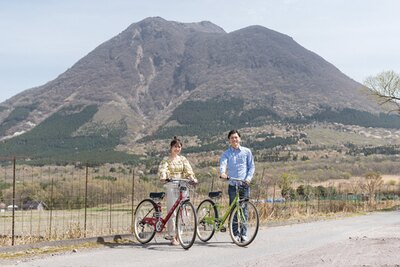Sense of wonder 由布岳山麓グランピングリゾート / 宿泊者は、自転車を無料でレンタルできる。雄大な由布岳を眺めながら、周辺をゆっくり散策するのが気持ちいい