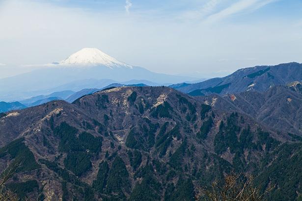 大山山頂からは富士山や箱根連山、秩父連山なども見渡せる