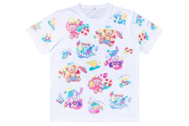 水着姿のダッフィー&フレンズが描かれた「Tシャツ」(3200円)