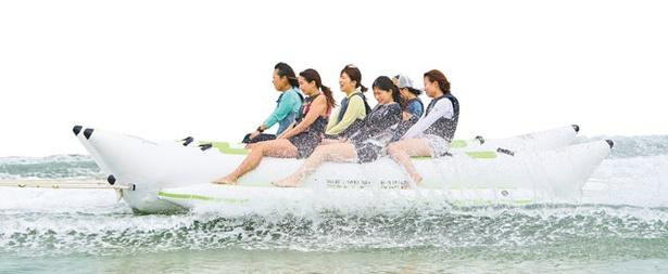 パンタイバグース / 「BANANABOAT」。最大10人が同時に楽しめるアクティビティ。体感スピードNo.1