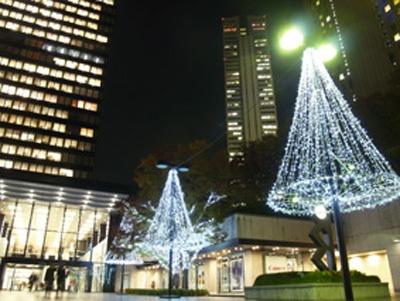 新宿三井ビルのイルミ