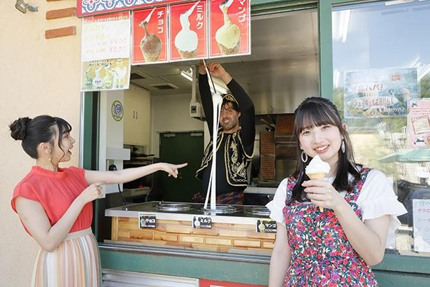 「アイス屋さんのパフォーマンスにびっくり!」(太田)