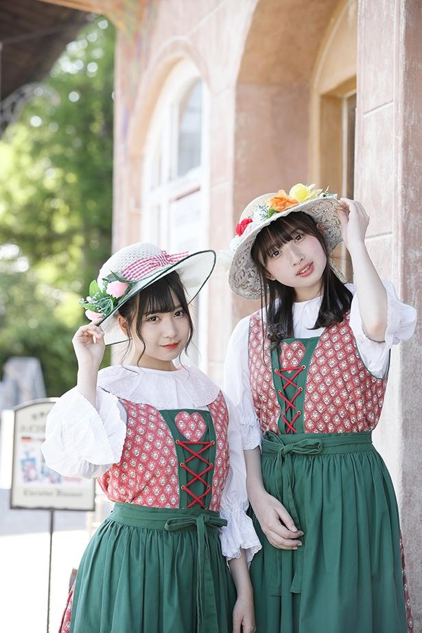 メルヘンチックな雰囲気のドイツ民族衣装(1着500円)