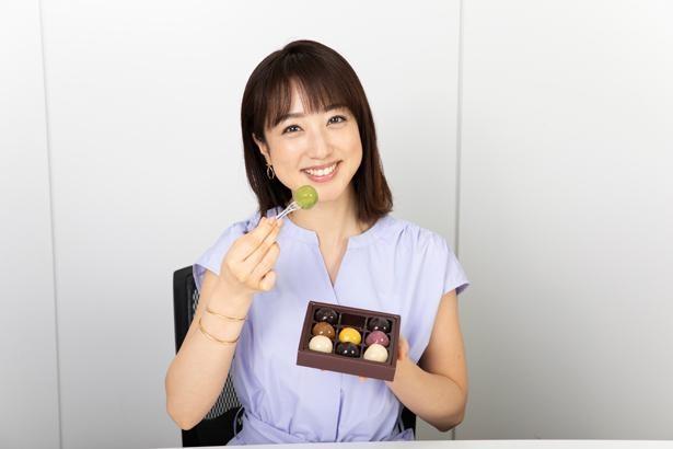 【写真】宝石のような「あんこ玉」を前に満面の笑みを見せる川田裕美
