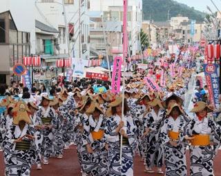 港町の夏を彩る鹿児島県いちき串木野市で「第49回 串木野さのさ祭り」開催