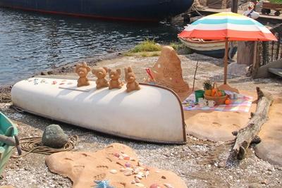 ケープコッドの海辺に登場しているデコレーション
