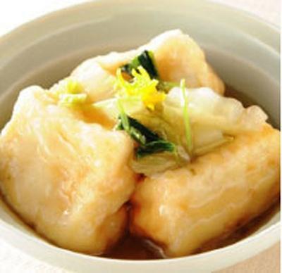 揚げだし豆腐白菜あんかけ(1パック420)