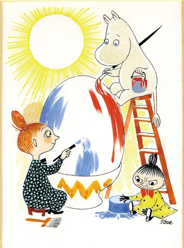 大分 / ムーミン展 THE ART AND THE STORY / トーベ・ヤンソン<イースターカード原画>1950年代 グワッシュ、インク・紙