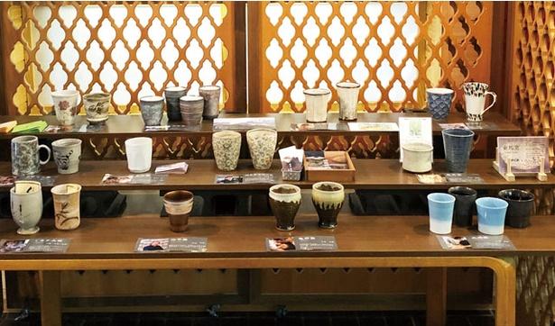 佐賀 / 武雄温泉ハイツのビアホール / 武雄市内11の窯元が造る新作ビアカップやぐいのみを片手に、ビールが楽しめる ※写真は昨年のもの