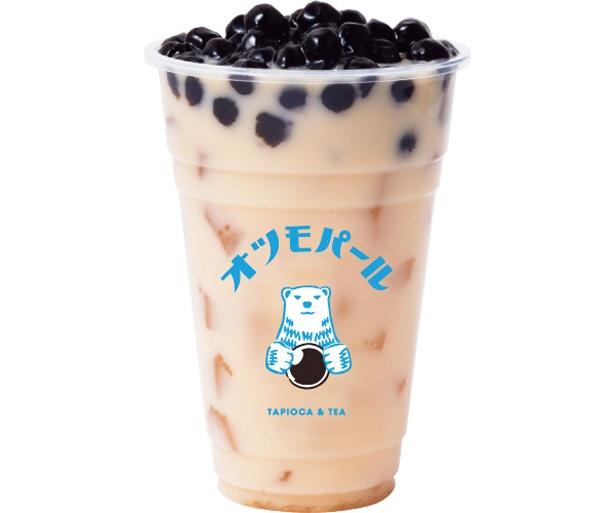 苦味とミルクの甘さが絶妙な日式ほうじ茶ミルクティー 16oz 生タピオカトッピング(520円)/オツモパール