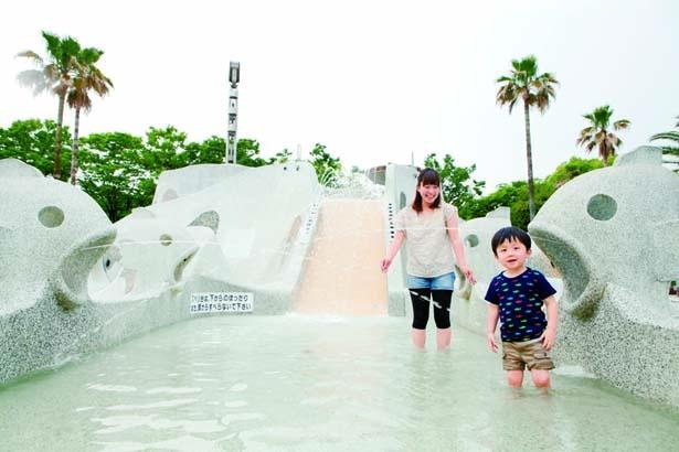 水路や噴水、トンネルなどを組み合わせた「ウォーターキャッスル」/兵庫県立西猪名公園ウォーターランド