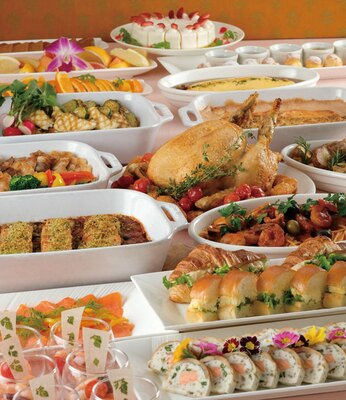 ホテルオークラ福岡 オールデイダイニング カメリア / 前菜、肉・魚料理、パスタ、ピザ、デザートまで季節の食材を使う