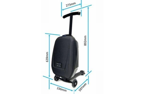 """97fa3aa8f5 キックボードと合体!""""乗れるスーツケース""""にヒットの兆し【 8 / 8 ..."""