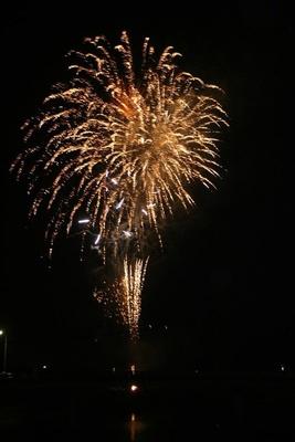 第52回院内夏祭り花火大会 / 院内夏祭りの終盤に700発が打ち上げられる