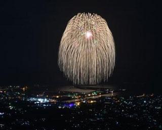 宇検村やけうちどんと祭り / 夏の夜空に咲く、迫力の水中花火
