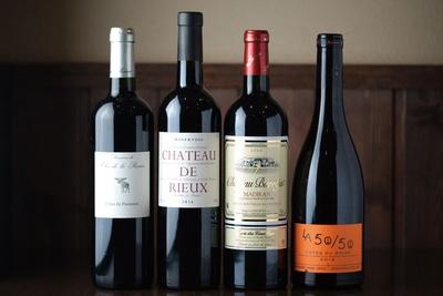南フランス産ワインが50~60種類そろう。なかには希少なものも / Bistro Le Bol