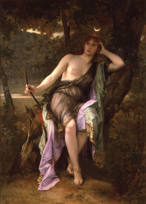 【写真を見る】アレクサンドル・カバネル《狩の女神ディアナ》1882年