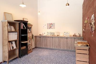 日東製陶所でデザインされたタイルを展示するギャラリーコーナー