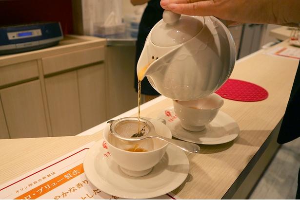 マイクロ・ブリュー製法で淹れた紅茶は、華やかな香りで茶葉感もしっかり/キリンビバレッジ滋賀工場