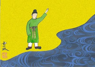 作家の雲竹林さんが描くユニークな「天の川」