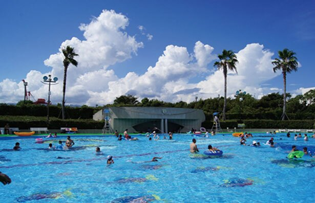 【写真を見る】開放感抜群の「大プール」は屋外に。目の前に海が広がり爽快!/リゾ鳴尾浜