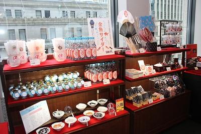 「ECO EDO 日本橋 2019」開催期間中は日本橋エリアの各商業施設で限定金魚グッズを販売