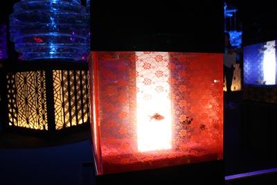 行燈をモチーフにしたライティング水槽「アンドンリウム」