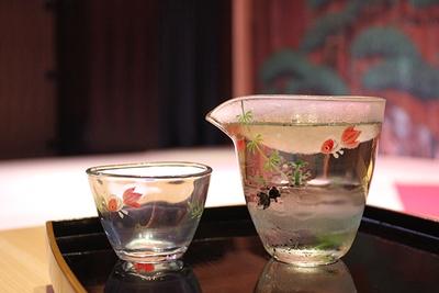 劇場型レストラン&ラウンジ「水戯庵」の金魚メニュー「みぞれ金魚」