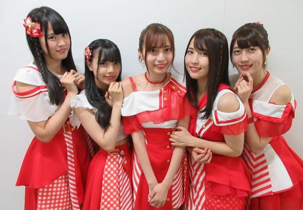 「Ange☆Reve」の左から水野結愛・吉橋亜理砂・佐々木璃花・さいごうみずき・権田夏海