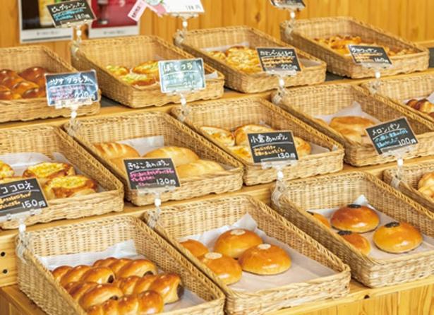 三瀬ルベール牧場 どんぐり村 / 焼きたての自家製パンがズラリ