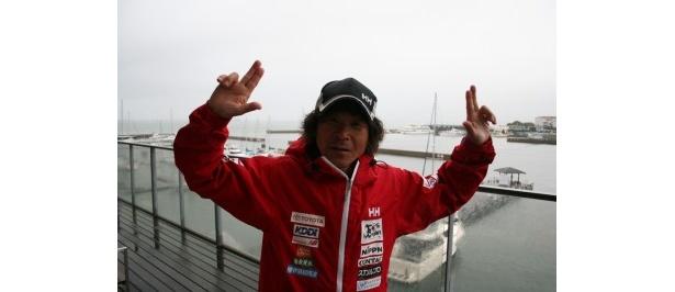 2年ぶりの日本帰還の喜びを語る寛平さん