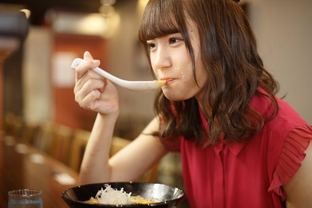 スープをひとくち!