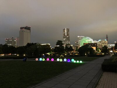 横浜の夜景を眺めながらのランニング