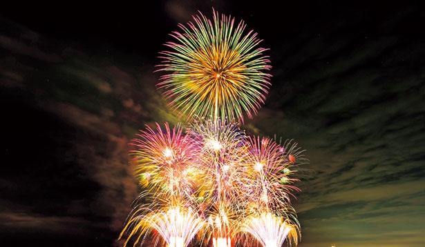 高音質のスピーカーから流れる音楽と花火を完全シンクロさせた最先端のショーは感動の連続!/泉州 光と音の夢花火