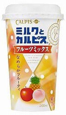 【画像】こちらはミルクと3種の果汁を合わせた「ミルクとカルピス」フルーツミックス