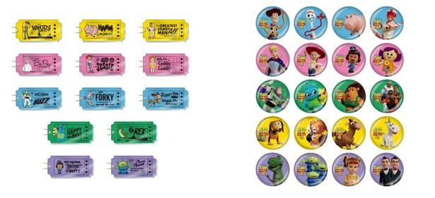 「アクリルキーホルダー」(写真左、ランダム13種 税抜 500円) 「ミニ缶バッジ」(写真右、ランダム20種 税抜 350円)