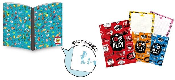 「B5ノート Vol.1」(写真左、全1種 税抜 600円) 「ケース付きレターセット」(写真右、全1種 税抜 800円)