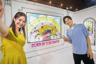 キリンビールのシンボル、聖獣麒麟(せいじゅうきりん)も横浜生まれ。巨大なステンドグラスはフォトスポットとしておすすめ