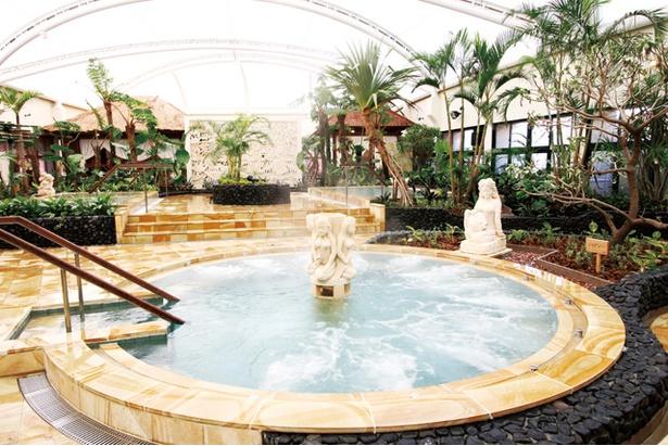 筑紫野温泉アマンディ / 浴場は男女週替りで、小学生以下は要保護者同伴。朝風呂(648円)も